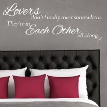 Lovers Don't Finally Meet ~ Wall sticker / decals